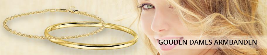 Gouden dames armbanden