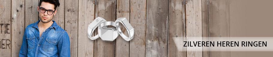 Zilveren heren ringen