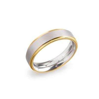 Boccia bicolor ring 0134-05 titanium