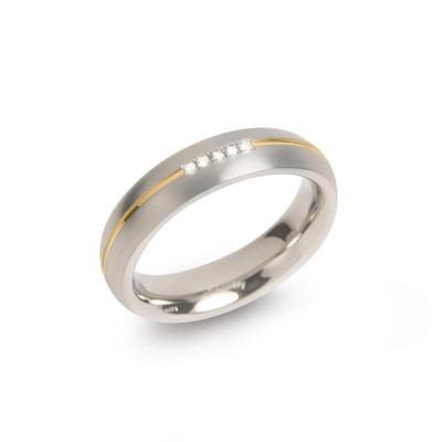 Boccia ring 0130-04 titanium diamant