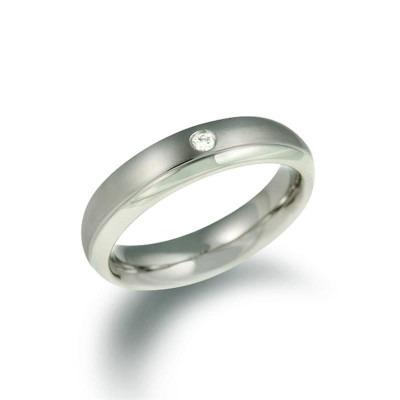 Boccia ring 0130-11 titanium diamant