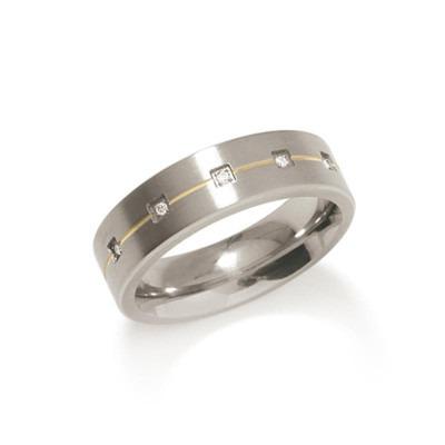 Boccia titanium ring 0101-19 diamant