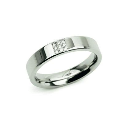Boccia titanium ring 0121-02 diamant