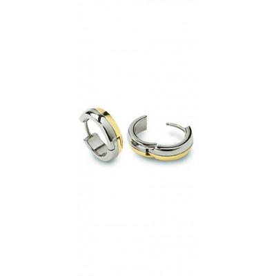 bicolor titanium Boccia creolen 0539-07