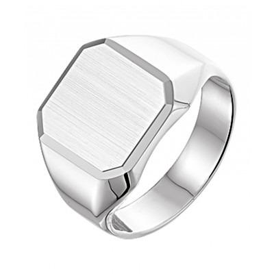Graveerbare zilveren zegelring voor mannen