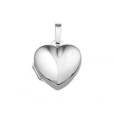 Hart medaillon zilver