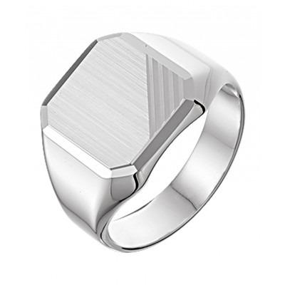 Mooie matte zegel ring van zilver voor heren