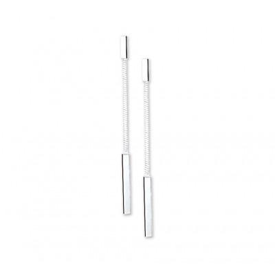 Mooie zilveren oorhangers 39 mm hoog