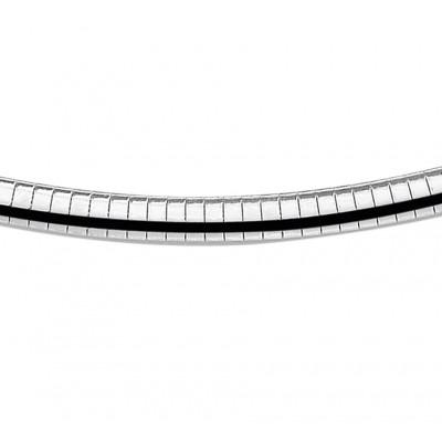 Mooie zilveren schakelarmband voor dames van 6 mm breed