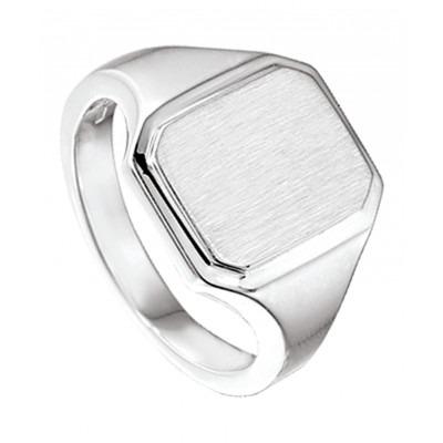 Mooie zilveren zegelring