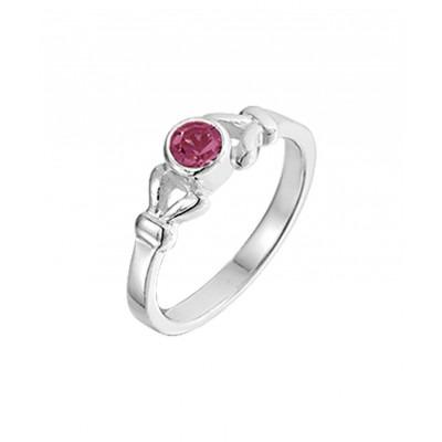 Ring van zilver en kristal