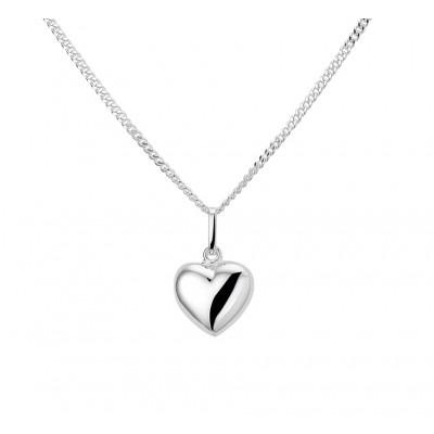Zilveren collier met hanger hart