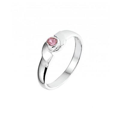 Zilveren ring met mooie kristal