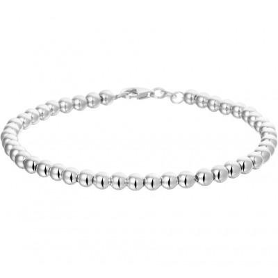 Deze mooie schakelarmband van zilver is 19 cm