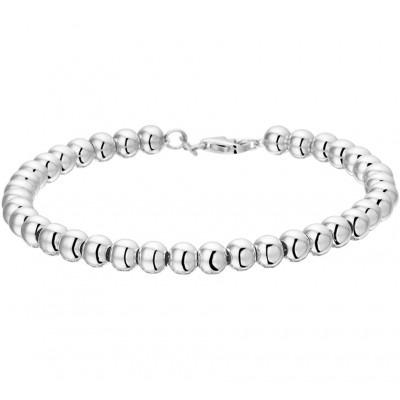 Elegante, mooie zilveren schakelarmband van 19 cm lang
