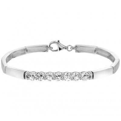 Elegante zilveren damesarmband met schakels