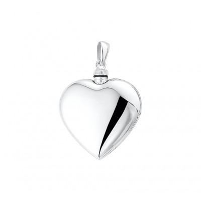 Groot zilveren ashanger hart