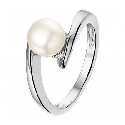 Klassieke ring met parel 7 mm