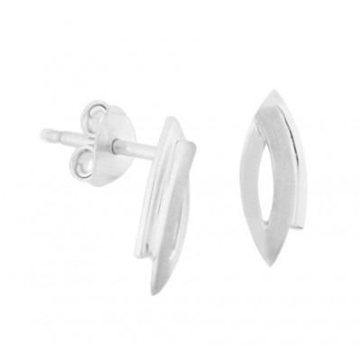 Luxe oorknoppen van zilver 12 mm hoog