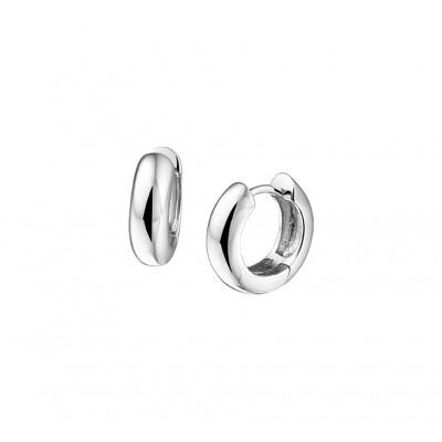 Luxe paar klapcreolen van echt zilver