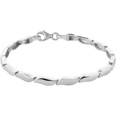 Mat zilveren armband dames 19 cm