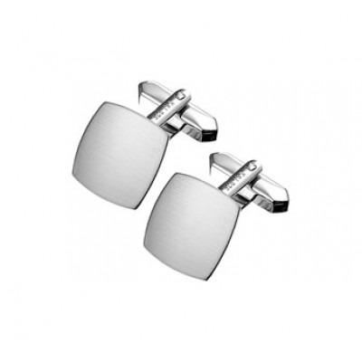 Matte manchetknopen gemaakt van zilver 15,5 x 15,5 mm
