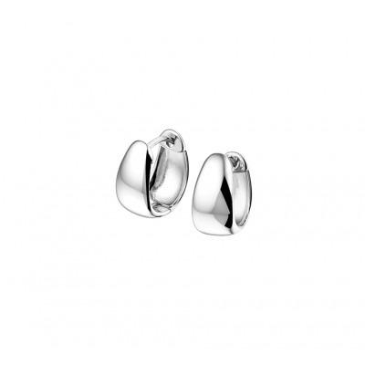Mooie klapcreolen van luxe zilver