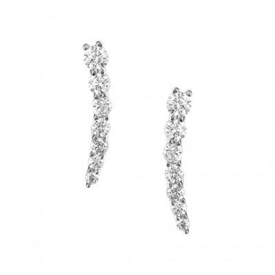 Mooie oorknopjes staafjes van zilver 16 mm