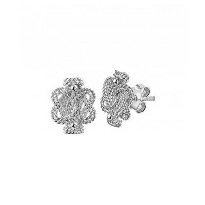 Mooie oorknoppen van zilver 11 mm hoog
