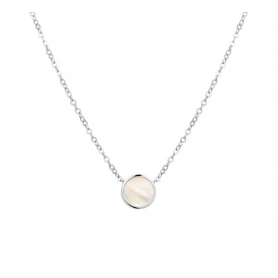 Mooie zilveren parelketting parelmoer 42-44 cm