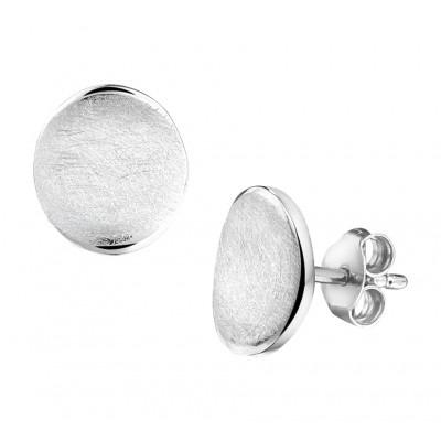 Oorknoppen van zilver 10 mm hoog
