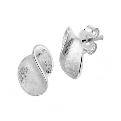 Oorknoppen van zilver 11 mm hoog