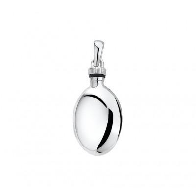 Ovalen ashanger van zilver