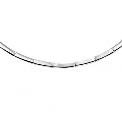 Strak modern zilveren collier
