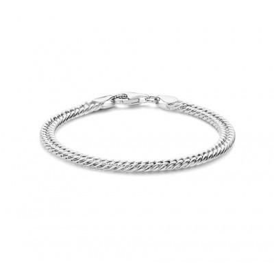 Zilveren armband geslepen gourmet 18 cm