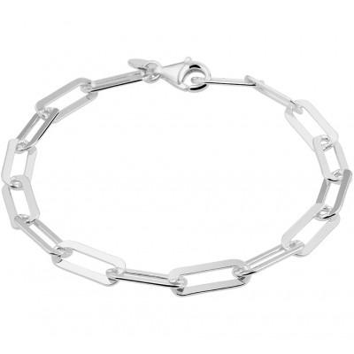 Zilveren armband met ankerschakel 19 cm