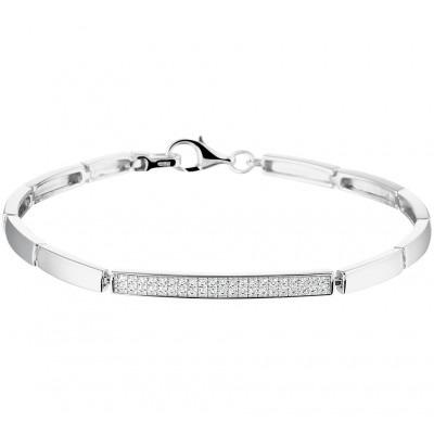Zilveren armband met rij zirkonia