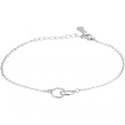 Zilveren armband met zeshoekjes