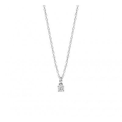 Zilveren collier met mooie zirkonia