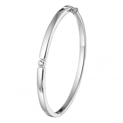 Zilveren dames armband bangle