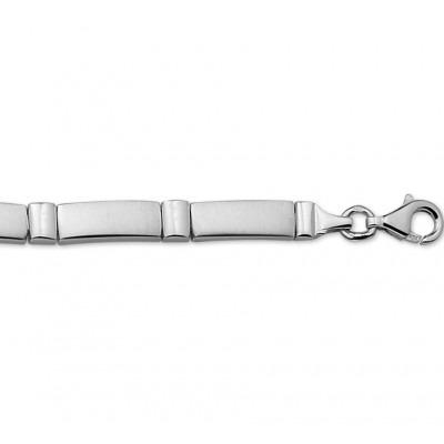 Zilveren dames schakelarmband