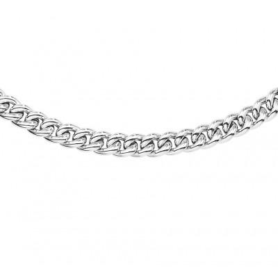 Zilveren gourmet ketting 45 cm