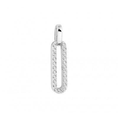 Zilveren hanger met zirkonia rij