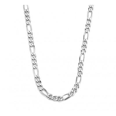 Zilveren herenketting figaro 50 cm
