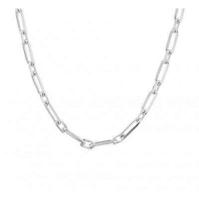 Zilveren ketting met grove ankerschakel