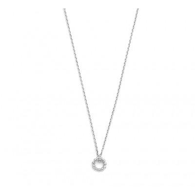 Zilveren ketting met ronde hanger