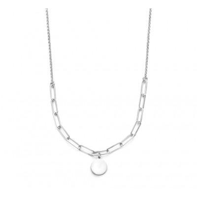Zilveren ketting met rondje 40 44 cm