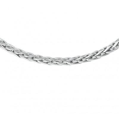 Zilveren ketting met vossestaart schakel 45 cm