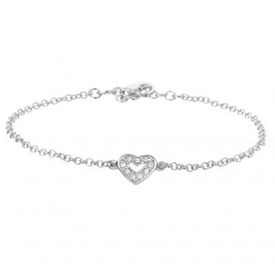 Zilveren kinder armband met een bedel van een hartje