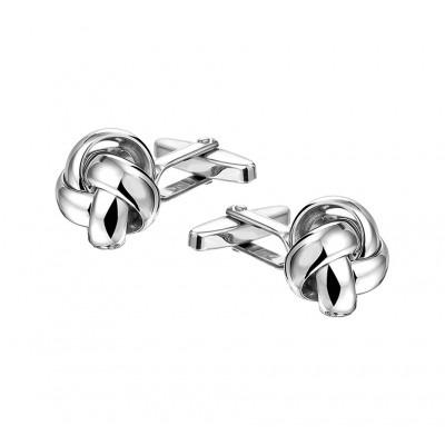 Zilveren knoop manchetknopen 15 mm